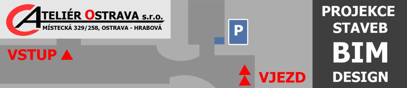 parkování pro klienty a návštěvy