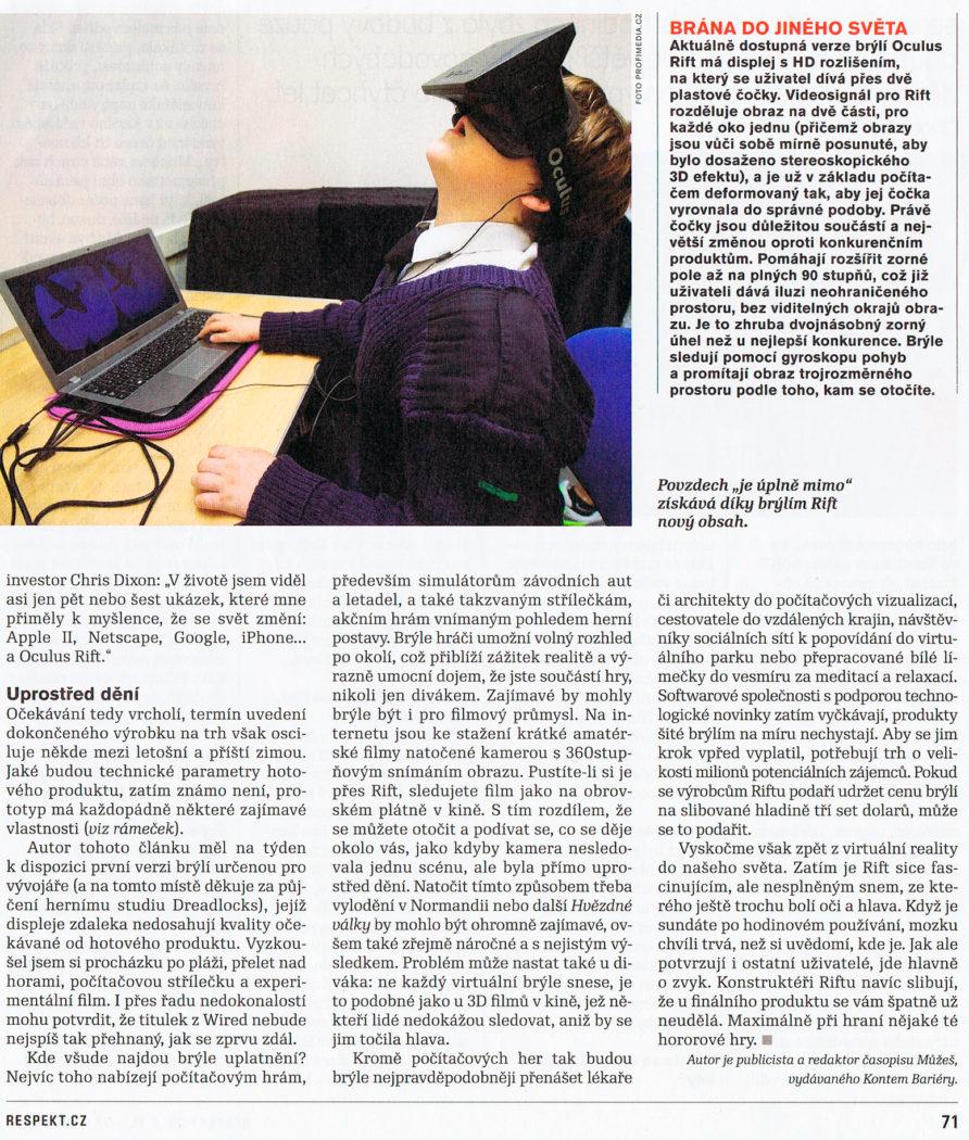 Virtuální realita a její využití