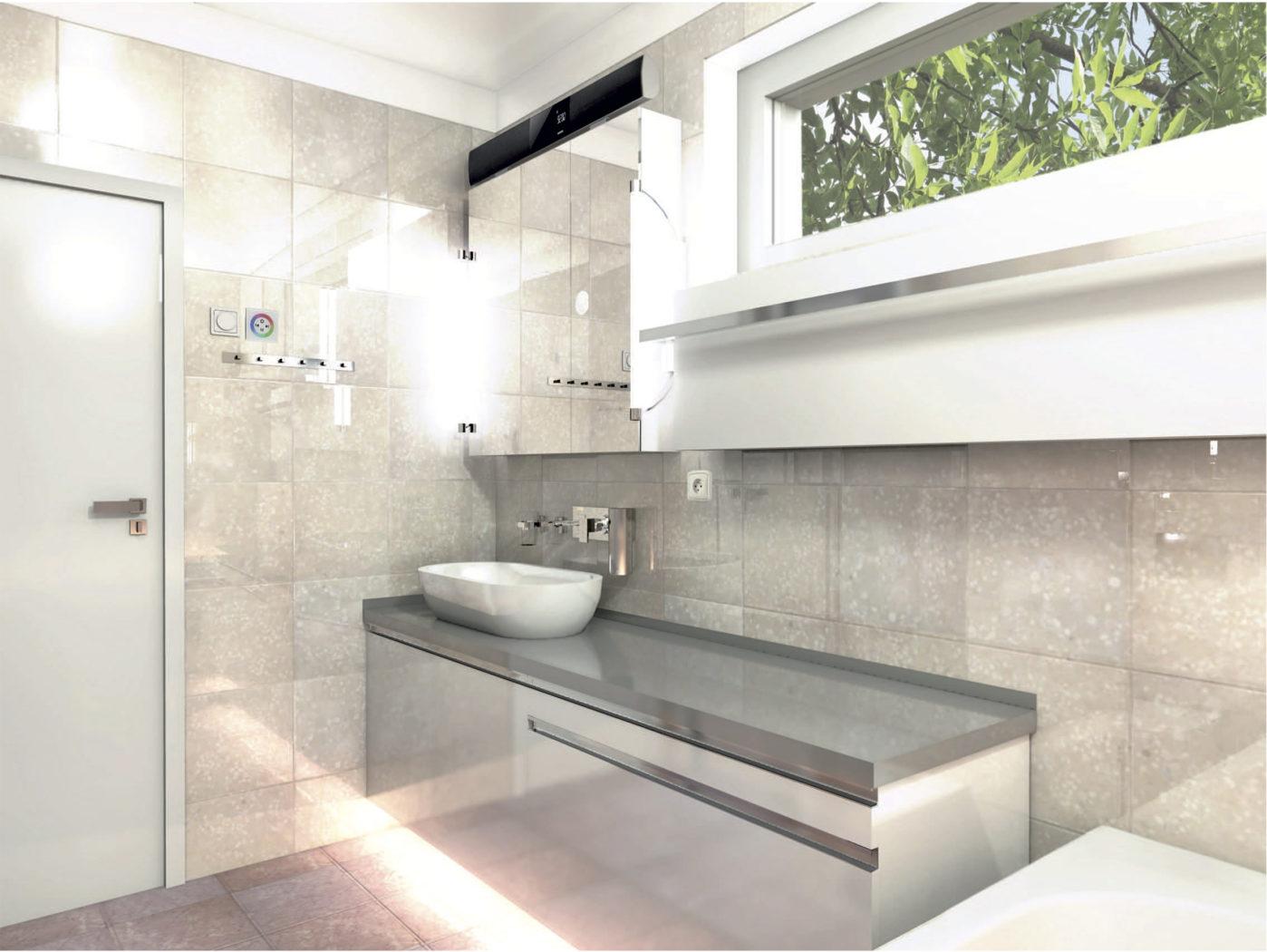 Vizualizace projektu interiéru koupelny