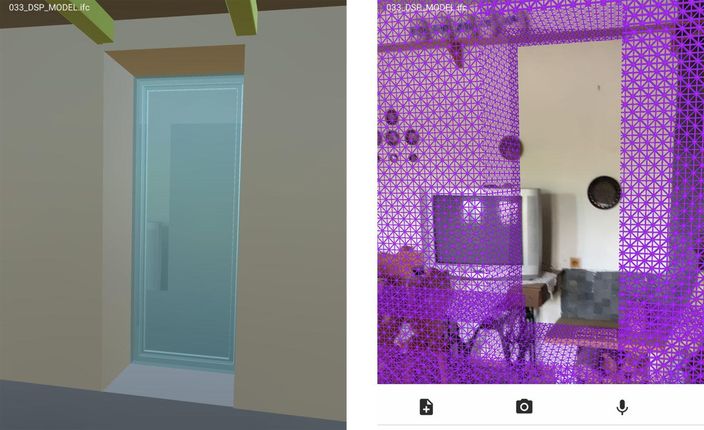 rozšířená realita - umístění nových stavebních otvorů