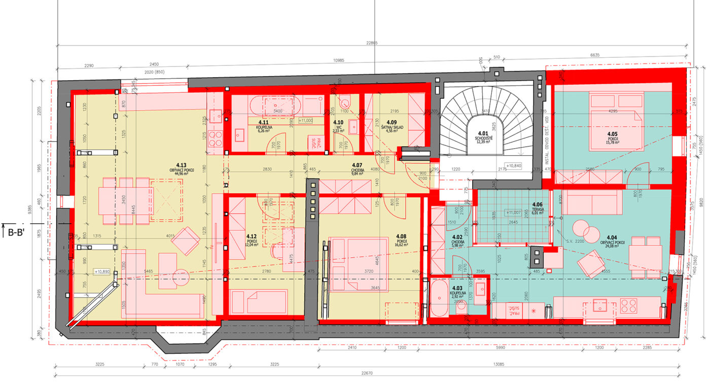 půdorys bytového domu návrh