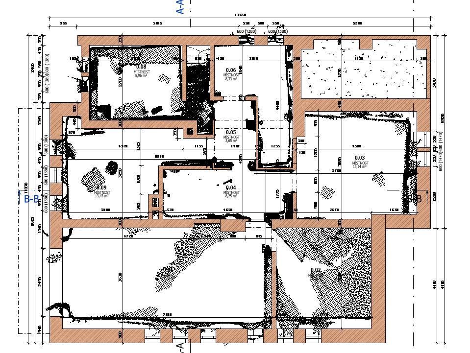 dokumentace stávajícího stavu budovy a iPad Pro LiDAR skener